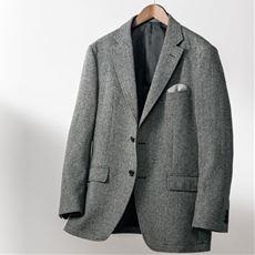 日本製素材・尾州織ウール混メンズテーラードジャケット