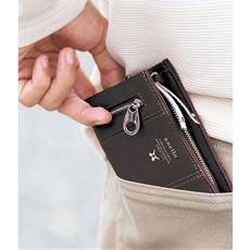 折り財布(アネロ)(AU-D0692)(Premium Clasp)