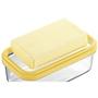 (1)バターを包み紙から出しワイヤープレートにのせる。