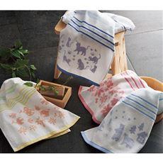 泉州産タオル(柄違い4枚組・軽くて使いやすい薄手)