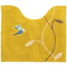 トイレマット(インコ柄刺繍)