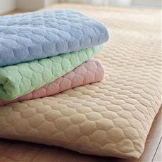 敷き布団カバー(パッド付き ほつれにくいマイヤータオル)/肌側綿100%