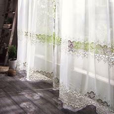 ボイルカーテン(透かし柄がアクセントのトルコ刺繍)