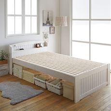 すのこベッド(棚付き)