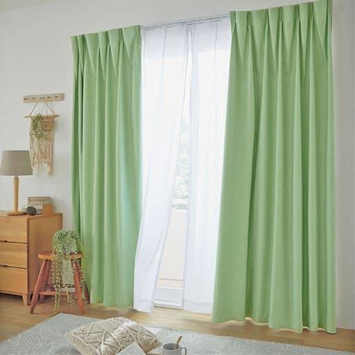 カーテン・レース4枚セット(高機能)/遮熱1級遮光カーテン+遮熱UV目隠しレースカーテン