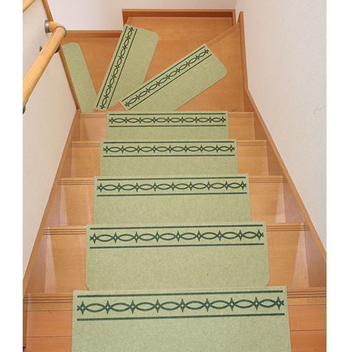 折り曲げ付階段マット(15枚セット)