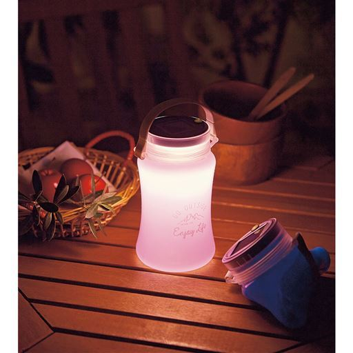 LEDランタン(ソーラー&USB充電式)