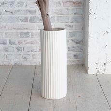 陶器傘立て スリム ストライプ