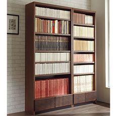 引き出し付き書棚