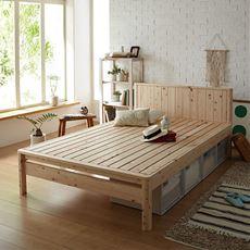 カントリー調ひのきすのこベッド