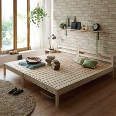 ひのきすのこベッド(並べて使える)