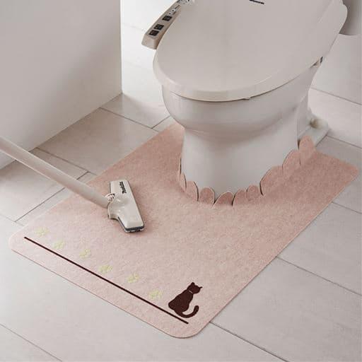猫の足あと 蓄光トイレマット