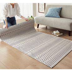 アクセントラグ(シェニール) ソファ前テーブル下にぴったり。省スペースラグ 洗濯機で丸洗いOK(ネット使用)