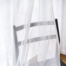 やや透け感のあるレースカーテン(小花柄)
