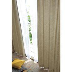 人気の植物柄を線画で表現した遮光カーテン(3級遮光・形状記憶)
