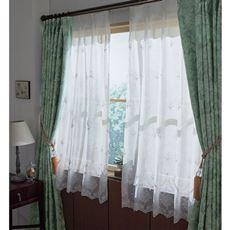 ボイルカーテン(優しい風合いのシワ加工・トルコ刺繍)