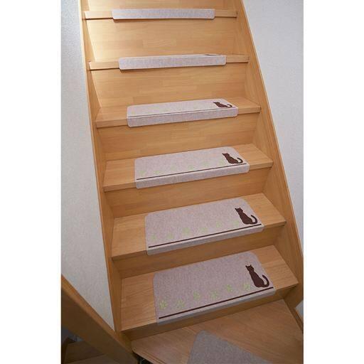 猫の足あと 蓄光階段マット