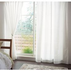ミラーレースカーテン(窓の結露対策・梅雨時におすすめ!抗菌防カビ加工)