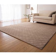 ループパイルカーペット(防ダニ・防音)足音軽減ラグ ホットカーペット床暖房対応 クッション性