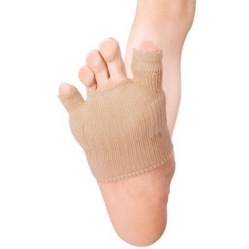 綿混サラリ洗える外反母趾パッド(2個)