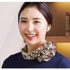 <横浜スカーフ>ワンタッチリボンスカーフ
