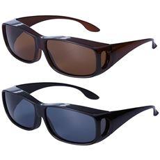 UVカット偏光オーバーサングラス