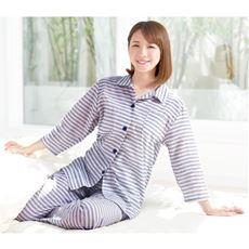 綿100%先染めボーダーパジャマ