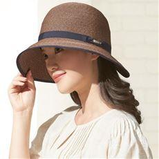 洗えるつば広UVカット帽子