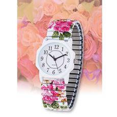 花の彩り八角時計