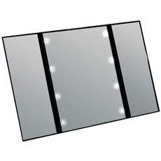 LEDメイクアップ三面鏡