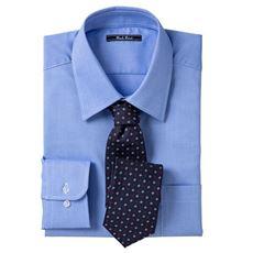 形態安定カラービジネスシャツ(長袖)