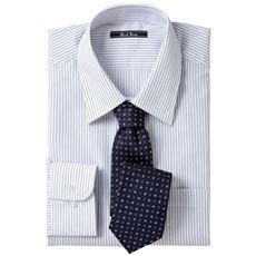 先染め形態安定ビジネスシャツ(長袖)