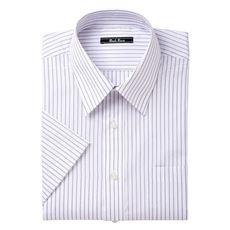 先染め形態安定ビジネスシャツ(半袖)