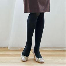程よい厚みの90デニール黒タイツ 同色3足組(抗菌防臭・日本製)