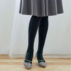 透けにくく暖かい120デニール黒タイツ同色3足組(抗菌防臭・日本製)