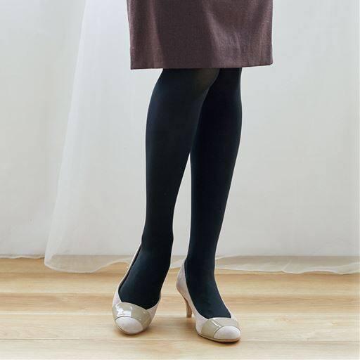 程よい厚みの黒タイツ 同色3足組・90デニール