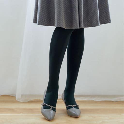 透けにくく暖かい黒タイツ同色3足組・120デニール