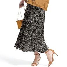 ランダムプリーツ ロングスカート