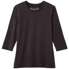 シンプルクルーネックTシャツ(七分袖)(洗濯機OK)