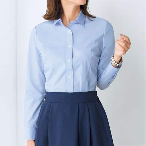 形態安定2枚組レギュラーカラーシャツ(長袖)(洗濯機OK)