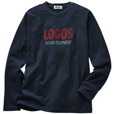 アウトドアからタウンまで活躍 ロゴ刺繍長袖Tシャツ(ロゴス)