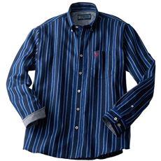 ストライプ柄フランネル素材のボタンダウンシャツ(ビバリーヒルズ・ポロクラブ)