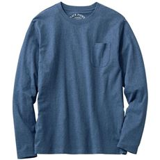 オーガニックコットン100%素材のクルーネックTシャツ(長袖)