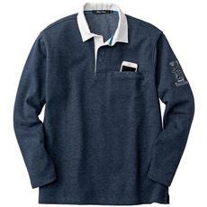 ドライ・ストレッチ・カットソー素材スマホ対応ポケット付きラガーシャツ