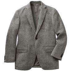 日本製素材 尾州織ウール混ジャケット メンズビジネス