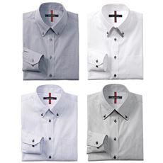 抗菌防臭機能付き 4デザインから選べる形態安定ボタンダウンYシャツ(ゆったりシルエット)