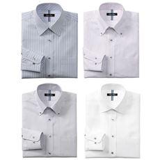 4デザインから選べる 形態安定デザインYシャツ(ベーシックシルエット)