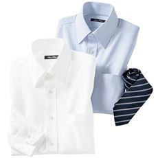 吸汗速乾機能付き ニット素材で動きらくらくな形態安定Yシャツ(レギュラー衿)