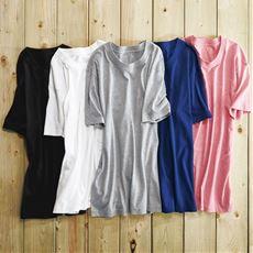 肌触りがサラッと心地よい・男の綿100%半袖クルーネックTシャツ・2枚組