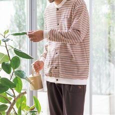 裏綿パジャマ・アーノルドパーマー(スナップボタン仕様)